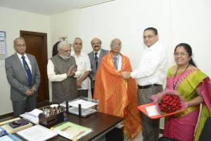 felicitation of former Vice-chancellor